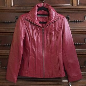 Kenneth Cole Reaction genuine leather jacket S NWT